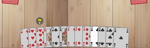 Tablero inicial del juego Corazones